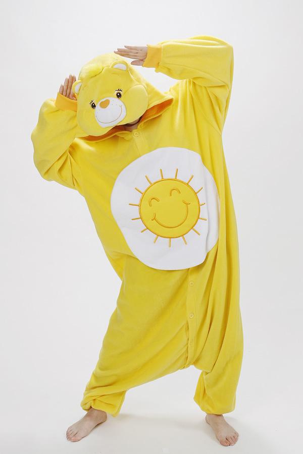 KIGURUMI Costume Pajamas SAZAC Fun Shine Bear Care Bear Fleece Halloween JP New